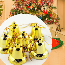 9Pcs/pack Xmas Decoration Golden Bells Hanging Accessory Christmas Tree Ornament