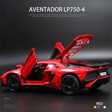 1/32 Diecast Racing Car Model Lamborghini Aventador LP750-4 Red with Sound&Light