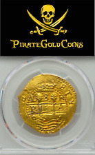PERU 1699 8 ESCUDOS PCGS 62 1715 FLEET GOLD DOUBLOON PIRATE TREASURE COIN