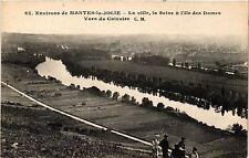 CPA  Environs de Mantes-la-Jolie - La ville, la Seine & l'Ile des Dames(352945)