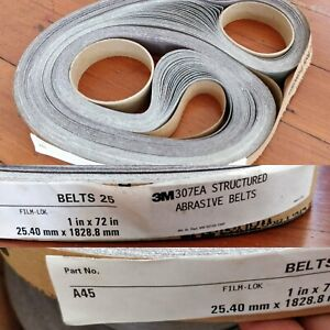"Limited Qtys 2 Pcs 1/"" x 30/""  3M Surface Conditioning Belts Finishing Coarse"
