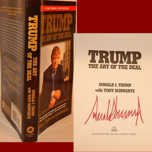 """AUTOGRAPHED """"Art of the Deal"""" Book Hand Signed by President DONALD TRUMP w/Proof"""