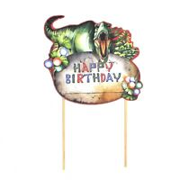 Dinosaur theme party cake topper cupcake topper cake decoration party