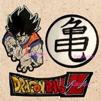 Lot of 3 Dragon Ball Z Patches Logo Goku Master Roshi Turtle Symbol Vegeta