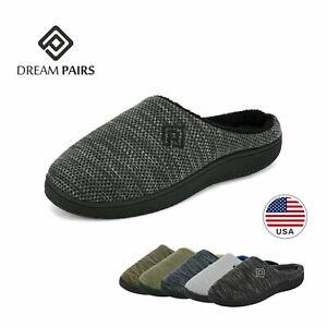 DREAM PAIRS Men's Memory Foam Non-Slip Indoor Outdoor Slipper Cozy House Shoe US