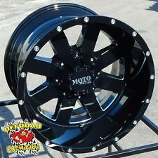 18x10 BLACK MOTO METAL MO962 WHEELS RIM FORD F150 PLATINUM FX4 XLT 6x135mm SPORT