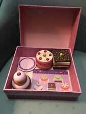 Djeco Wooden Toy CAKE BAKERY Set, TOM & CHARLOTTE, EXCELLENT!