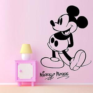 Mickey Mouse Walt Disney Infantil Adhesivo de Vinilo para Pared Habitación