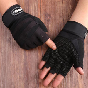 Men Weight Lifting Exercise Training Workout Wrist Fitness Gym Sports Gloves