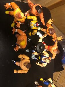 WWF WWE Vintage Hasbro Action Wrestling 8 Lot Undertaker Hogan Sid Warrior