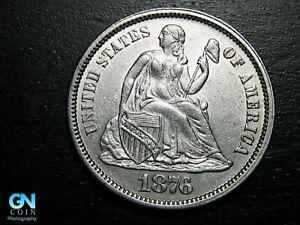 1876 P Seated Liberty Dime --  MAKE US AN OFFER!  #B7828