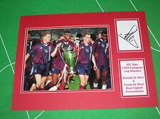 Rare Ronald & Frank de Boer Dual Signed AFC Ajax 1995 European Cup Winners Mount