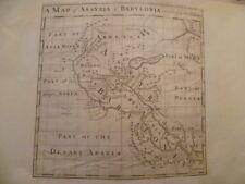 MAP 18TH.  ASSYRIA & BBYLONIA.  ENGRAVING.  Gravure XVIII eme. ASSYRIE