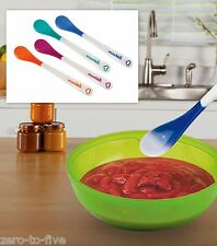 New Munchkin 4 x White Hot Safety Spoons - Baby - If to hot, changes colours