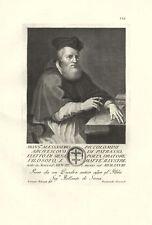 PICCOLOMINI ALESSANDRO ARCIVESCOVO PATRASSO POETA ORATORE  STAMPA ORIGINALE 1700