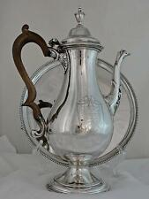 A George Iii Solid Silver Presentation Coffee Pot and Tray Set, Hester Bateman