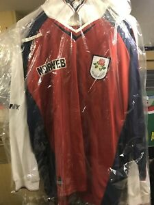 Lancashire Cricket Vintage Signed Players Shirt Jersey 1990s Rare