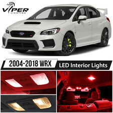 2004-2018 Subaru Impreza WRX STI Red LED Lights Interior Package Kit