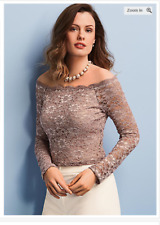 KALEIDOSCOPE Petite Scallop Lace Top Size UK 18 RRP-£45