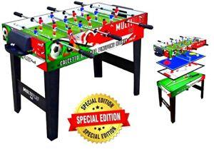 Tavolo Multigioco ITALY 4 in 1 Calciobalilla Ping Pong Speed Hockey Biliardo