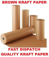 "900MM (35"")X 15M BROWN KRAFT PACKING WRAPPING CRAFT PARCEL WRAPPING PAPER 100GSM"