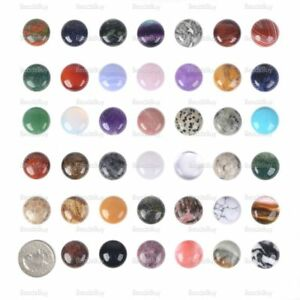 Wholesale 20mm Round cabochon CAB flatback semi-precious gemstone Save $ in bulk