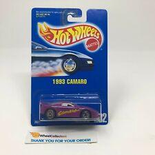 #2  1993 Camaro #202 * Purple w/ Clear Window * Hot Wheels Blue Card * NA50