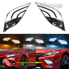 2X LED DRL Daytime Running Turn Signal Light For Toyota Camry 2018-19 SE XSE
