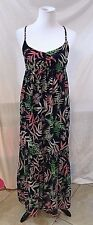 Women's Black Multi-Color Floral Long Dress by The Webster Miami (03112)