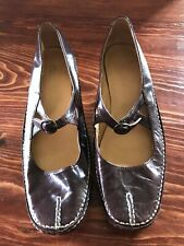 Women's Brown Leather Mary Janes Size 7 - Unique Styling