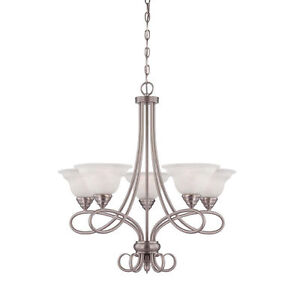 Savoy House 1-120-5-69 Polar 5-Light Chandelier in Pewter Finish