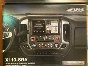 Alpine X110-SRA In-Dash Restyle System  select 2014-up GMC Sierra truck w/o BOSE
