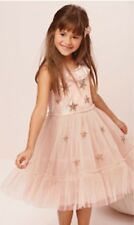 Next girls pink TULLE occasion party dress 5 years stars  (4-5)