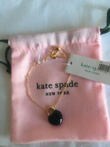 Kate Spade bracelet open heart stone lock mini black 100% Authentic RRP £70/