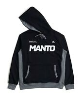 Manto Hoodie Label Black BJJ No Gi Casual MMA Fight Brazilian Jiu Jitsu