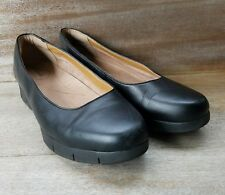 Clarks Artisan Black Leather Comfort Shoes,10 D Wide Euro 41.5, EUC, Work Ready!