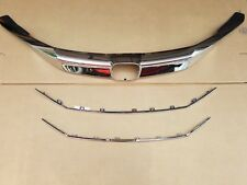 3PC Set 2016-2017 ACCORD 4dr Sedan Front Bumper Upper Grille Chrome Molding Trim