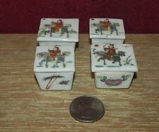 4  Antique Chinese Miniature Porcelain Boxes