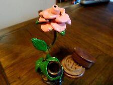 Pink Rose Ceramic Tobacco Smoking Pipe + Grinder ,5 Screens Not Glass  1321 +G