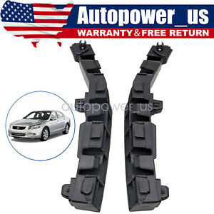 Pair Front Bumper Bracket Beam Mount Support For Honda ACCORD 2008-2012