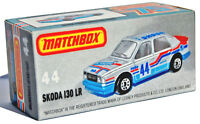 CUSTOM DISPLAY BOX ONLY FOR MATCHBOX 44 SKODA 130 LR RALLY CAR - FREE UK POST