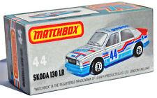 Affichage Personnalisé Boîte uniquement pour MATCHBOX 44 SKODA 130 LR Rallye Voiture-Free UK POST