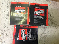 1990 Toyota 4RUNNER 4 RUNNER Service Shop Repair Manual Set W SUPPLEMENT OEM
