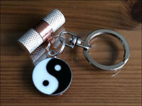 Cremation Jewellery Ashes Keyring w Yin-Yang Funeral Keepsake Memorial