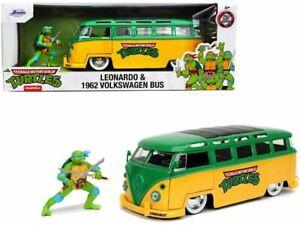 1:24 Leonardo w/ 1962 Volkswagen Bus -- Teenage Mutant Ninja Turtles JADA VW Kom