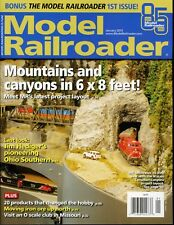 Model Railroader Magazine January 2019 Mountains and canyons in 6 x 8 feet!