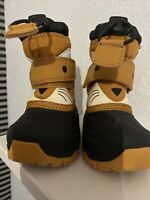 Cat and Jack Toddler Boys Size  4  Tan Fox Thermolite Snow  And Rain Boots NWOB