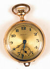 ANTIQUE TRINITY GOLD FILLED TRANSITION  FLASHY POCKET WATCH RARE !!