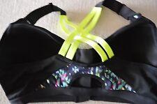 Victoria's Secret sports bra VSX Incredible 34B neon strappy  front zip close
