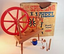Vintage Remco Industries Little Red Spinning Wheel Toy Craft 1961